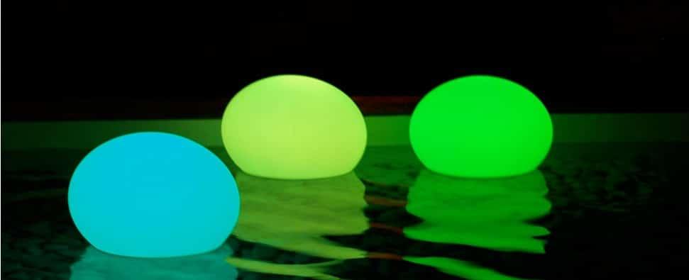 boule lumineuse éclairée